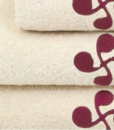 Tea towel square JOALDUN lauburu