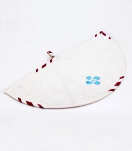 Tea towel 1/2 round SOKOA lauburu